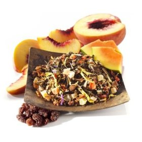 Loose leaf tea, with chunks of fruit